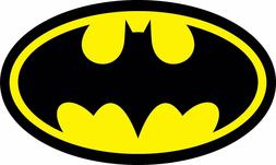 Diecut Vinyl BATMAN LOGO Decal Sticker Comic Dark Knight Col