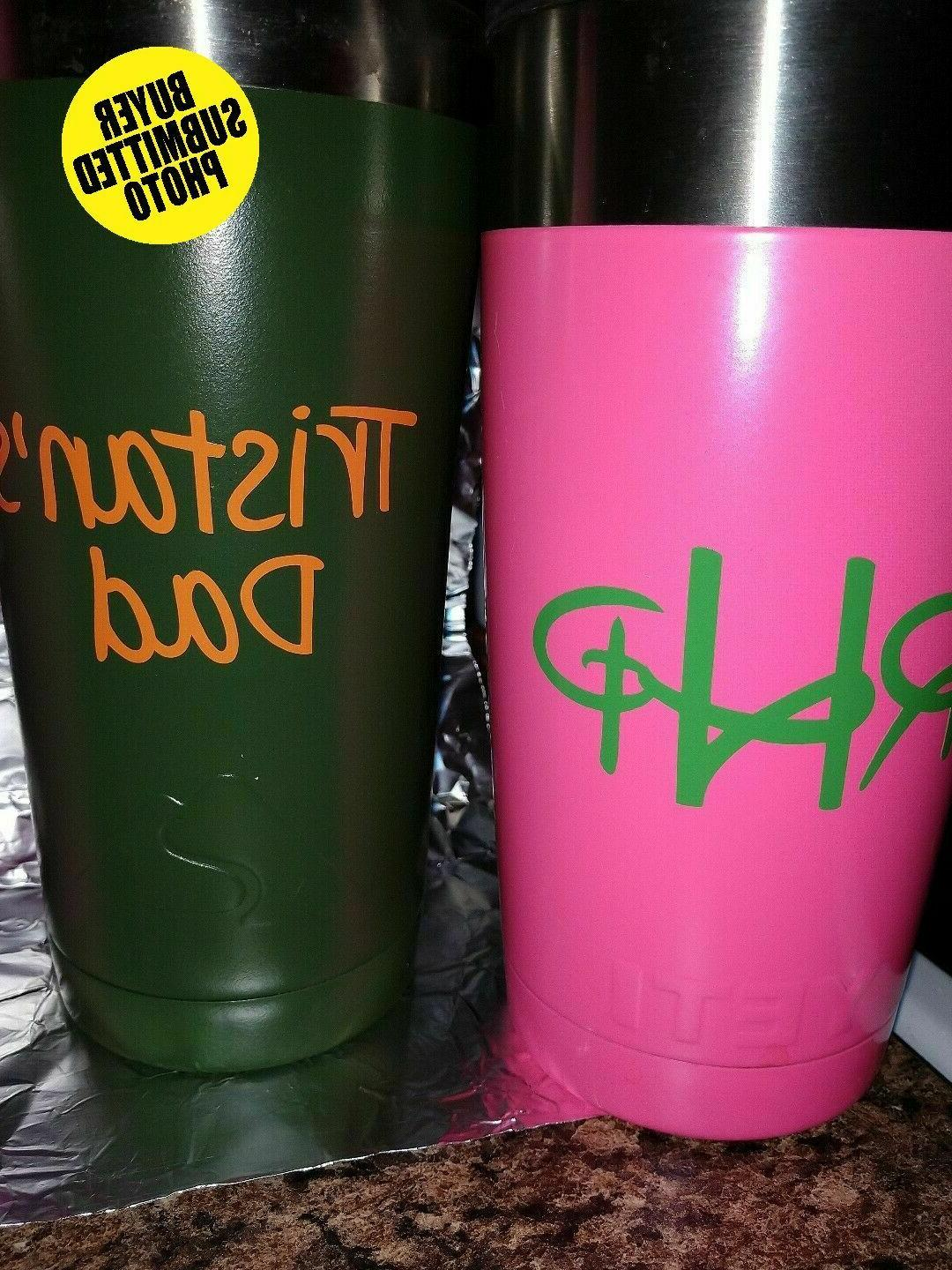 Custom Name Window Tumbler
